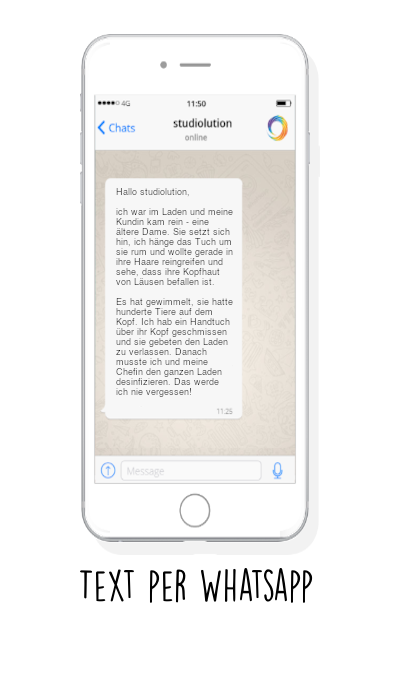 So könnt ihr uns eure Geschichte für Beautyful Stories über WhatsApp einsenden.