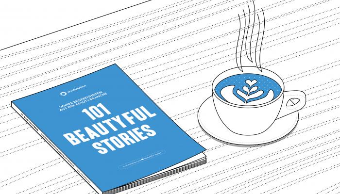 Legt das Buch 101 Beautyful Stories in eurem Wartebereich aus oder verschenkt es.