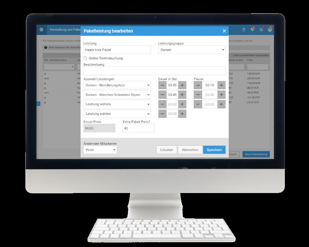 Die Paketleistungen helfen dabei auch bei der Online Terminbuchung die richtigen Einwirkzeiten