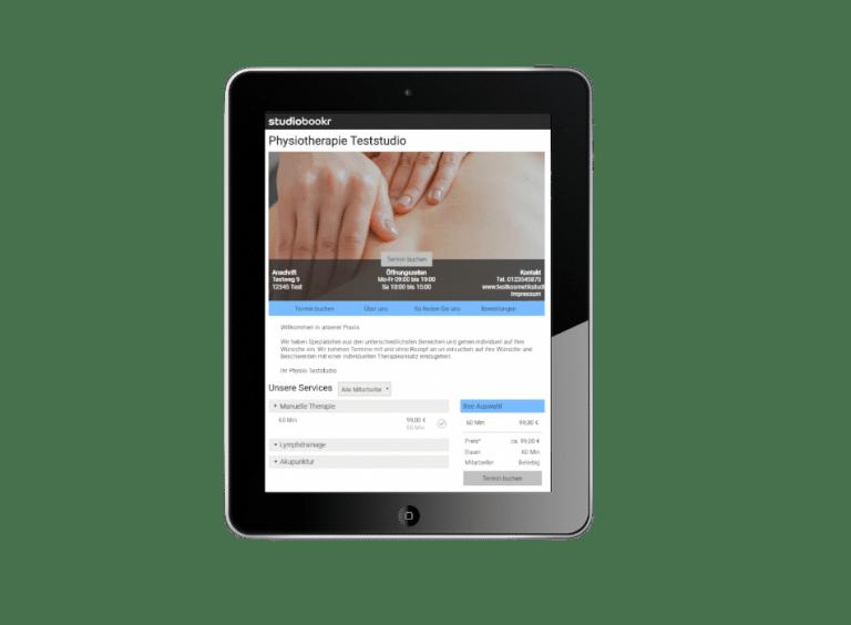 Durch die Online Terminbuchung kann Entlastung für Physiotherapeuten in der Terminservice geschaffen werden.