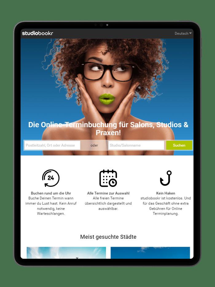 studiobookr ist das Online Terminbuchungstool von studiolution.
