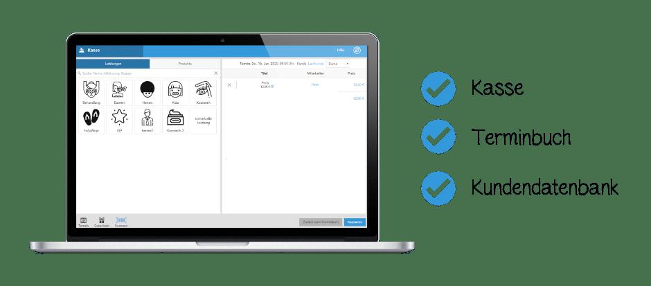studiolution bietet ein digitales Alles-Drin-System bestehend aus Kasse, Terminbuch und einer Kundendatenbank.