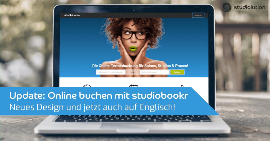 Mit studiobookr können eure Kunden nun auf Deutsch oder Englisch buchen.